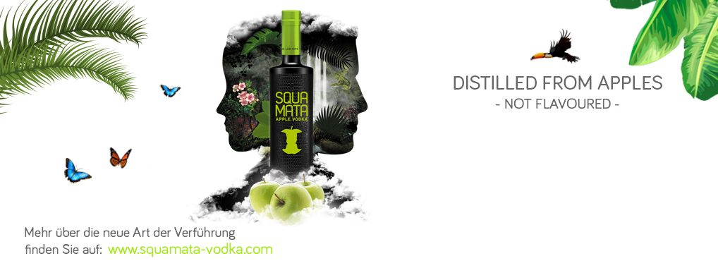 SQUAMATA Apple Vodka in neuem Outfit